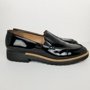Franco Sarto | black patent | loafer | CYPRESS